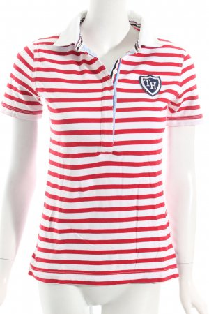 Tommy Hilfiger Polo-Shirt rot-weiß Streifenmuster Casual-Look