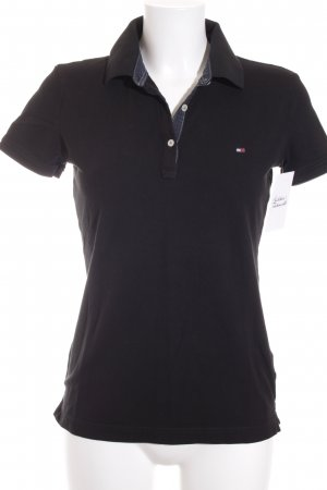 Tommy Hilfiger Polo Shirt black athletic style