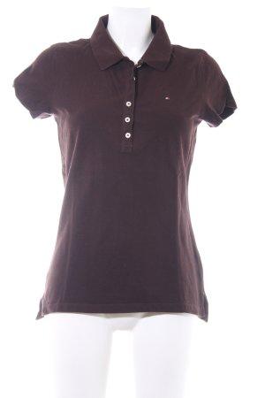 Tommy Hilfiger Polo-Shirt schwarzbraun schlichter Stil