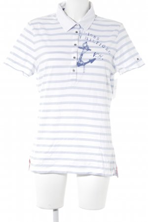 Tommy Hilfiger Polo Shirt striped pattern navy look