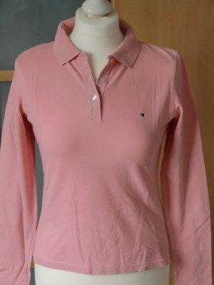 TOMMY HILFIGER Polo-Shirt T-Shirt langarm rosa Gr. S 36 ***wie NEU***