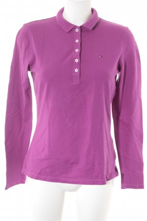 Tommy Hilfiger Polo-Shirt violett Casual-Look
