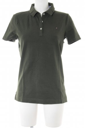 Tommy Hilfiger Polo-Shirt waldgrün Casual-Look