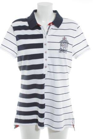 Tommy Hilfiger Polo Shirt white-dark blue Brit look