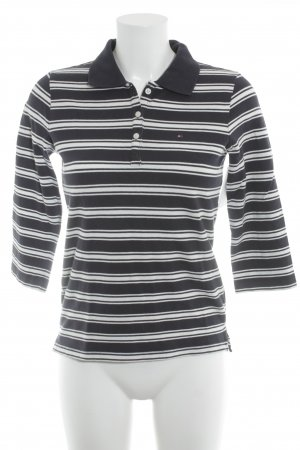 Tommy Hilfiger Polo Shirt white-dark blue striped pattern casual look