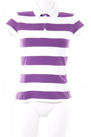 Tommy Hilfiger Polo-Shirt weiß-lila