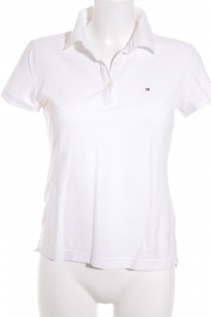 Tommy Hilfiger Camiseta tipo polo blanco Logotipo bordado