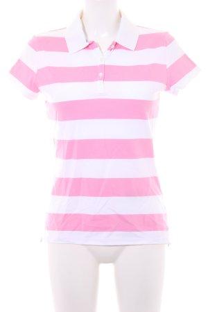 Tommy Hilfiger Polo-Shirt weiß-rosa Streifenmuster klassischer Stil