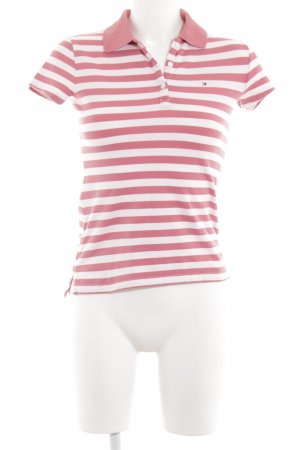 Tommy Hilfiger Polo Shirt white-red striped pattern casual look