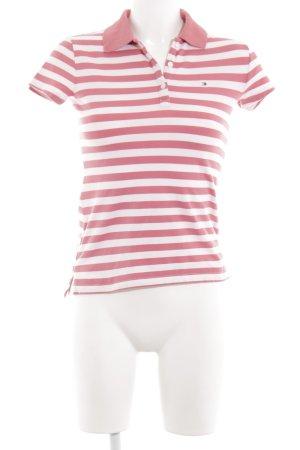 Tommy Hilfiger Camiseta tipo polo blanco-rojo estampado a rayas look casual