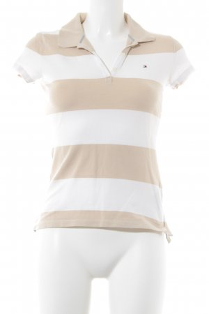 Tommy Hilfiger Polo bianco sporco-beige motivo a righe stile casual