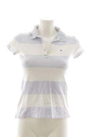 Tommy Hilfiger Polo-Shirt wollweiß-himmelblau Streifenmuster Casual-Look