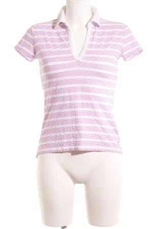 Tommy Hilfiger Polo-Shirt wollweiß-rosa Streifenmuster sportlicher Stil