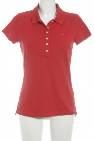 Tommy Hilfiger Polo-Shirt ziegelrot Casual-Look