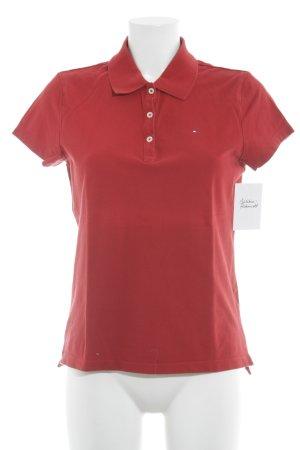 Tommy Hilfiger Polo-Shirt ziegelrot sportlicher Stil