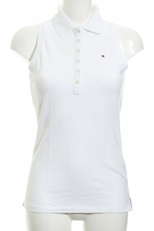 Tommy Hilfiger Blusa tipo Polo blanco puro estilo sencillo