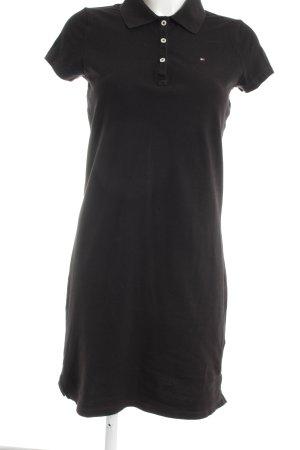 Tommy Hilfiger Vestido tipo polo negro look casual