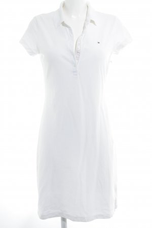 Tommy Hilfiger Vestido tipo polo blanco look Street-Style