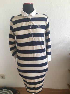 Tommy Hilfiger Polokleid XL blau weiß gestreift