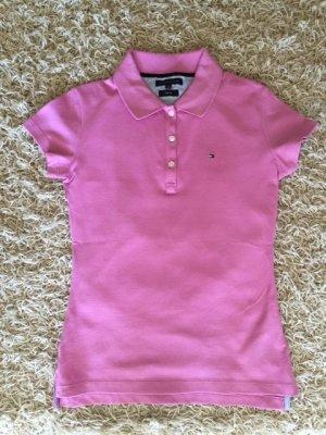 Tommy Hilfiger Poloshirt aus Piqué - rosa/pink - Gr. XS - ungetragen