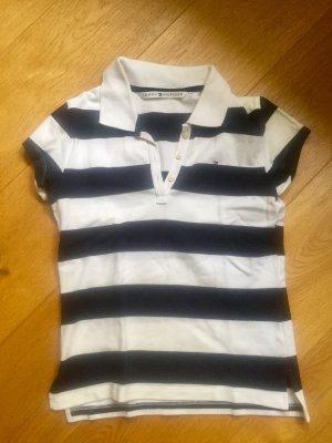 Tommy Hilfiger Poloshirt blau-weiß-gestreift