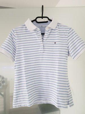 Tommy Hilfiger Poloshirt Gr. S blau weiß gestreift
