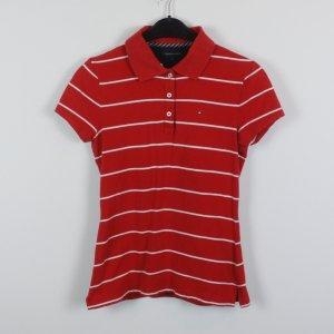 Tommy Hilfiger Poloshirt Gr. S rot/weiß gestreift (19/02/095)