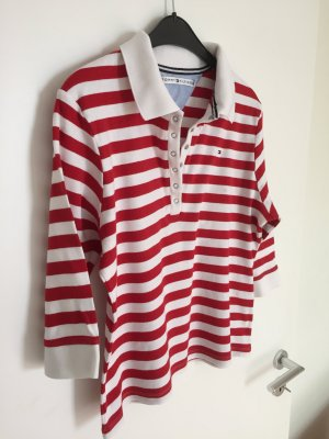 Tommy Hilfiger Polotop wit-rood