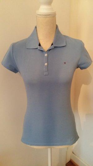 Tommy Hilfiger Camiseta tipo polo azul celeste
