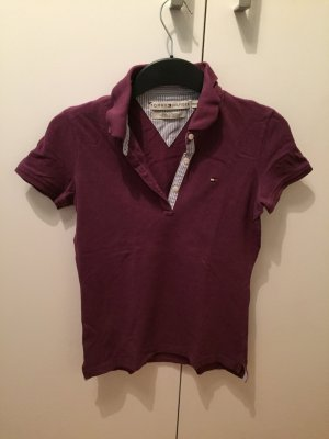 Tommy Hilfiger Poloshirt in dunklem Lila