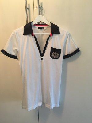 Tommy Hilfiger Poloshirt sportlich weiß blau pink L