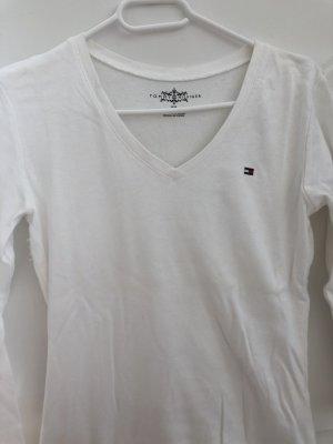 Tommy Hilfiger V-Neck Sweater white