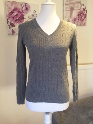 Tommy Hilfiger Cable Sweater grey cotton