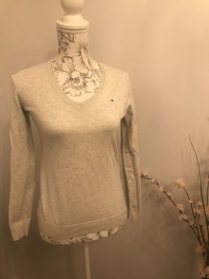 Tommy Hilfiger V-Neck Sweater light grey