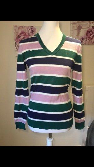 Tommy Hilfiger V-Neck Sweater multicolored cotton