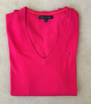 Tommy Hilfiger V-Neck Sweater magenta-raspberry-red