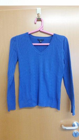 Tommy Hilfiger Pullover blau Gr. M Zopfmuster