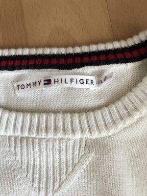 Tommy Hilfiger Pullover Gr. L weiß Baumwolle