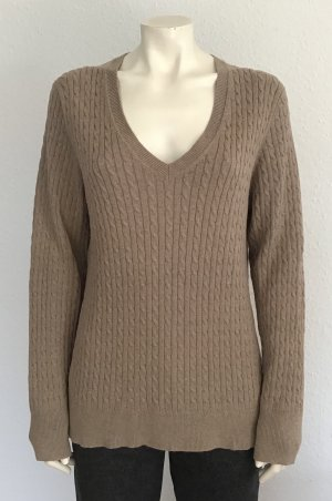 Tommy Hilfiger Cable Sweater light brown mixture fibre