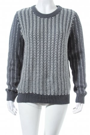 Tommy Hilfiger Pullover grau-wollweiß Fischgrätmuster Casual-Look