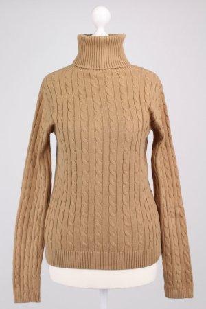 Tommy Hilfiger Pullover mit Zopfmuster braun Größe S
