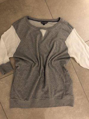 Tommy Hilfiger Pullover Pulloverkleid Lässig top S 36 grau Longpullover