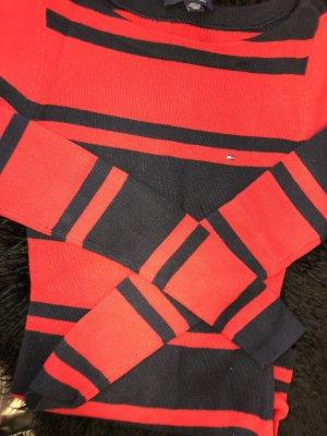 Tommy Hilfiger Jersey de cuello redondo rojo-negro