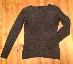 Tommy Hilfiger Pullover Schurwolle dunkelgrau GR. XS selten getragen