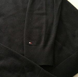 Tommy Hilfiger Jersey con cuello de pico negro Algodón