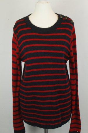 Tommy Hilfiger Jersey de punto azul oscuro-rojo tejido mezclado