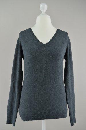 Tommy Hilfiger Pullover V-Ausschnitt grau Größe M 1707070290372
