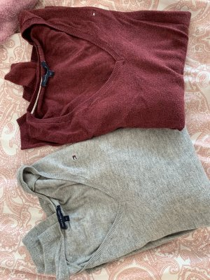 Tommy Hilfiger Pullover weinrot grau
