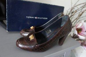 Tommy Hilfiger Tacones Mary Jane marrón oscuro Cuero