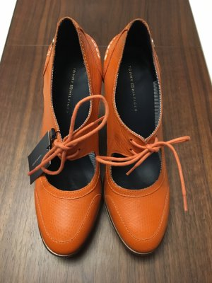 Tommy Hilfiger PUMPS Plateau genarbt 39 orange - Hammerteile - NP 299€